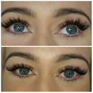 eyelash extension customer in Derry